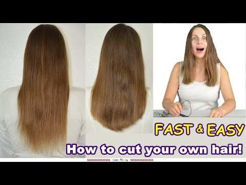 How to CUT Your Own LONG HAIR U / V Shaped EASY! Cutting my Own Hair for the First Time