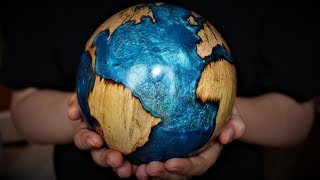 Woodturning -  Blue Planet 2 The Hybrid Globe