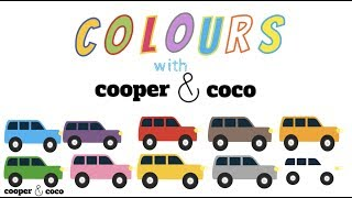 Learn Colors with Cars with Cooper and Coco, Learn Colours