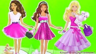 Váy Thời Trang Giấy Cực Cực Đẹp Cho Búp Bê Barbie Nikkie (Bí Đỏ)