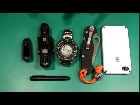 My EDC pocket dump video
