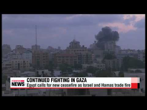 Egypt calls for new ceasefire as Israel and Hamas trade fire   가자지구 건물파괴, 사망자수 증