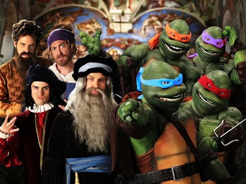 Artists vs TMNT. Epic Rap Battles of History Season 3 Finale. Music Videos