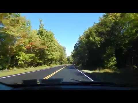 Driving through New Hampshire, USA