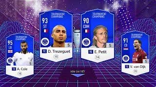 FIFA ONLINE 4: TEST DÀN FULL TC 38 TỶ Vs Trezeguet TC - Cole TC -  Petit TC & Van Dijk TC