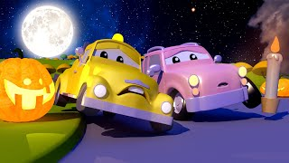 The Baby Cars are Talking to a GHOST! Cars and Trucks Babies of Car City Cartoon for kids