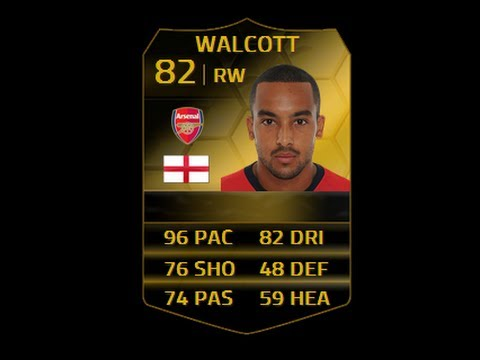 FIFA 14 IF WALCOTT 82 Player Review & In Game Stats Ultimate Team
