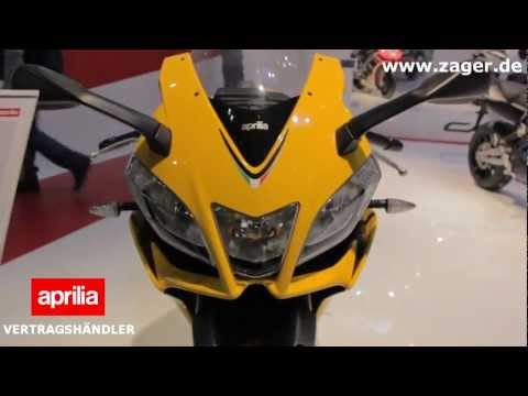 Aprilia RS4 125 2013 vs Yamaha YZF-R125 2013 - Eicma 2012 RS125 Racing Motorcycle Test