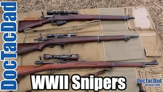 Wwii snipers rifles lee enfield springfield 1903a3 swedish sniper