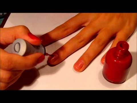Видео как научиться красить ногти