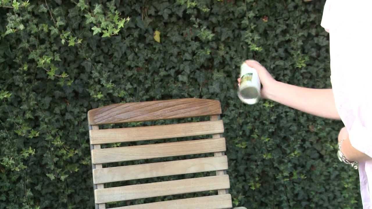 Gartenmöbel pflegen mit Osmo  YouTube