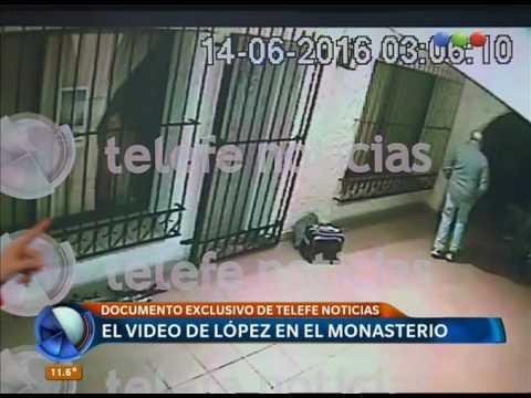 El video que muestra al exfuncionario José López entrando los bolsos en el convento