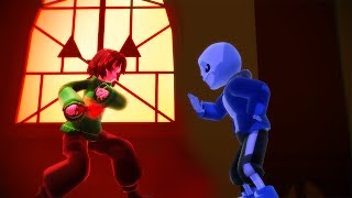 Stronger Than You Chara And Sans  Mmd Undertale