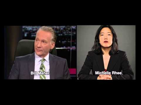 Michelle Rhee Flunks Bill Maher's Test