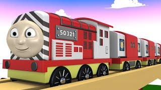 Toy Factory Cartoon - Trains for KIDS - Choo Choo Train - Toy Trains - Cartoons for Kids - Thomas