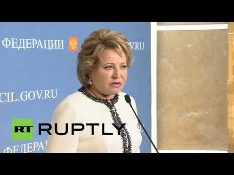 Russia: Sanctions against Russian MPs amount to 'political persecution' - Matviyenko