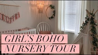 BABY GIRL'S BOHO NURSERY TOUR | BLUSH & GOLD | Amanda Little