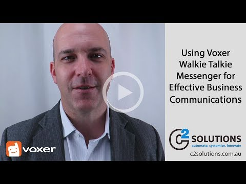 Using Voxer Walkie Talkie Messenger to Boost Your Business Communications