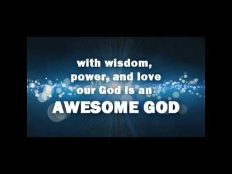 Awesome God - Rich Mullins (backing Track With Lyrics).wmv video