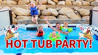 HUGE HOT TUB PARTY! 🌊 🎉