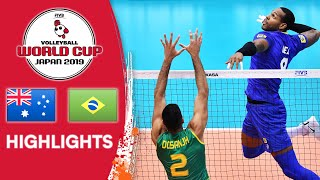 AUSTRALIA vs. BRAZIL - Highlights | Men's Volleyball World Cup 2019