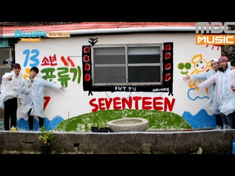 (17's One fine day EP.4) SEVENTEEN's wall painting