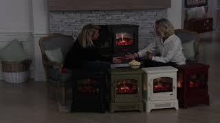 Duraflame Infrared Electric Stove Heater with Pedestal Base on QVC