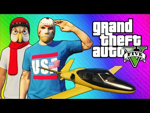 GTA 5 Online Funny Moments - Under Map Glitch, Epic Fails, White Circle Easter Egg!