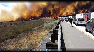 Escape from Cajon Pass (brushfire of July 17, 2015)