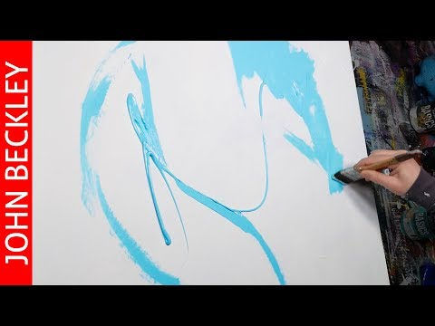 Abstract Art Painting Step by Step with acrylic paint | Faith