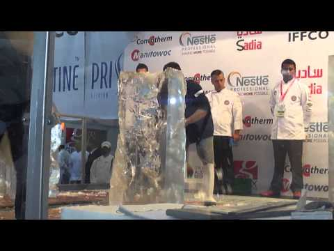 ICE CARVING COMPETITION DUBAI 2015 (PART 1)
