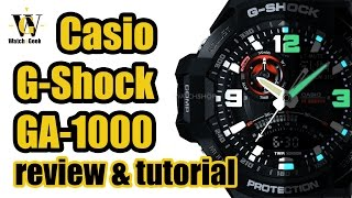 Casio GA 1000 module 5302 - review & tutorial how to setup and use ALL the functions