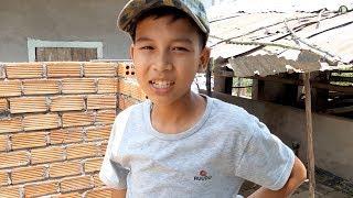 Ứa nước mắt với căn nhà mơ ước của cậu bé nhặt phân bò kiếm tiền đi học và phụ mẹ