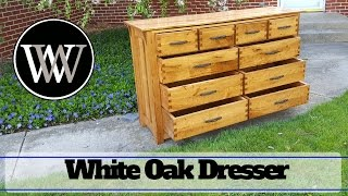 Hand Tool White Oak Dresser Part 10 How To Use Waterlox on a Woodworking Project