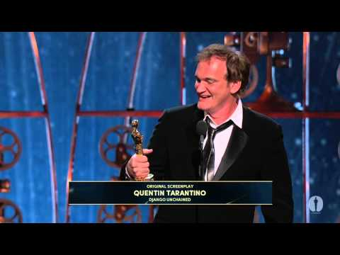 Quentin Tarantino winning Best Original Screenplay for