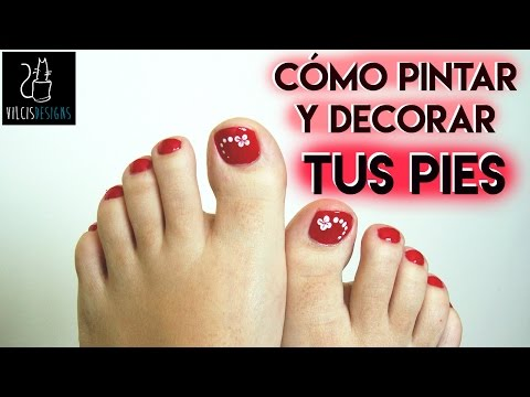 Cómo pintarse las uñas de los pies (rojo) / How to paint your toenails (red)