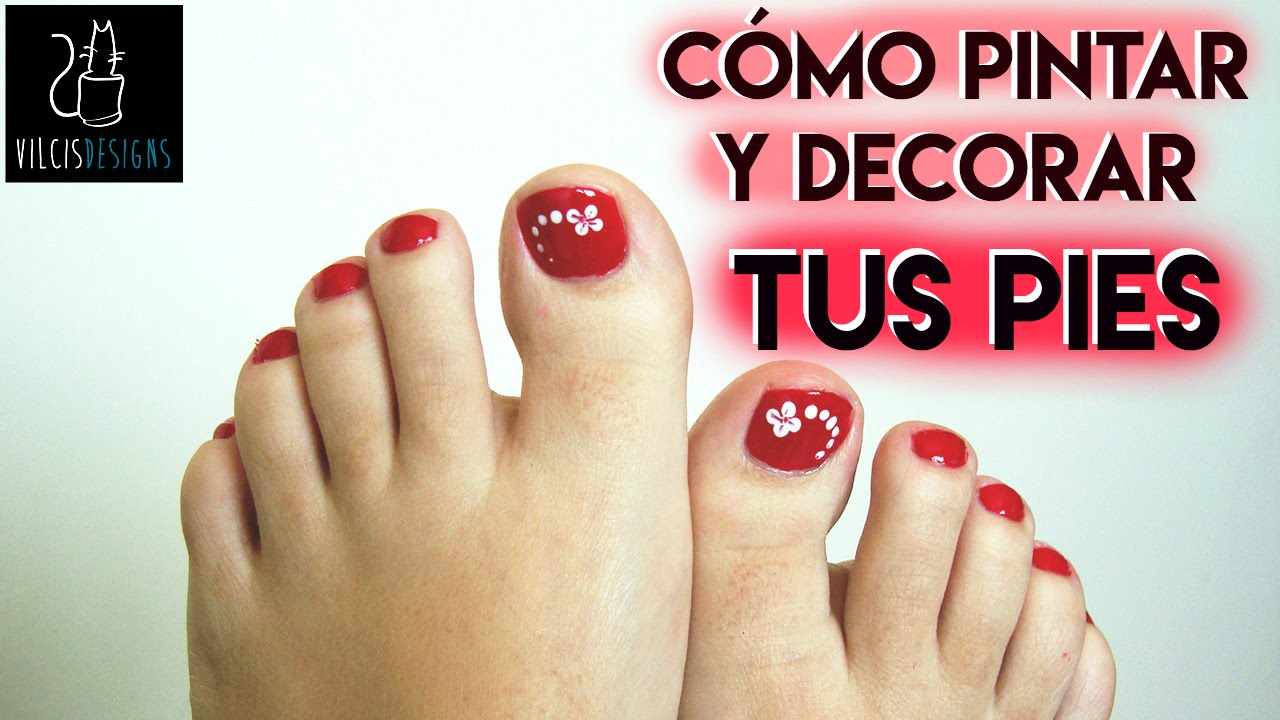 C mo pintarse las u as de los pies rojo how to paint - Como pintarse las unas originales ...