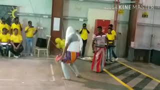 Funny party dance Of kaale man in hindi song in Qatar