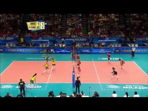 China wins vôlei Olimpíadas rio 2016 ponto Épico Fê Garay 20 de agosto 2016 gold medal Brazil rally