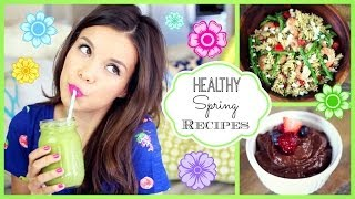 Easy & Healthy Spring Recipes! ♥ #HungryHealthyHappy
