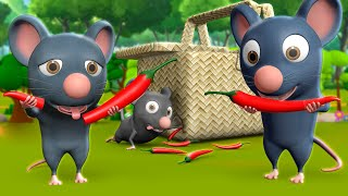 Chuhe Ke Muh Mirchi 3D Animated Hindi Stories for Kids चूहे के मूह मिर्ची कहानी Moral Stories Tales