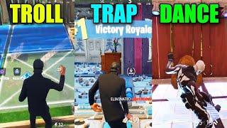 TROLL vs TRAP vs DANCE in Fortnite Battle Royale! BR #13