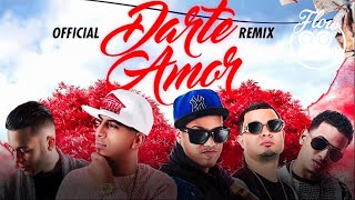 OnellFlow Feat Pusho, Randy, Jowell, Ozuna, Nio Garcia - Darte Amor Remix (Lyric Video)