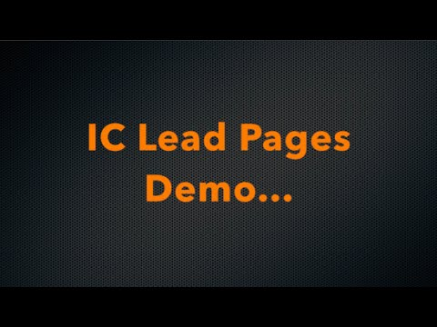 IC Lead Pages Demo   Ingreso Cybernetico