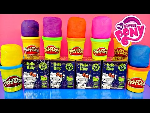 Play Doh Hello Kitty Mystery Minis My Little Pony Fashems Dc Superhero Surprise Eggs Blind Box video