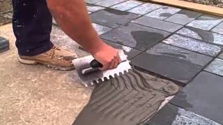 PTB applied to concrete using notched trowel