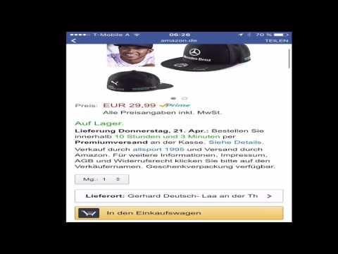 How to order with Amazon (#Lewis Hamilton Cap)