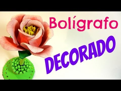 Bolígrafo decorado. Decorated pen.