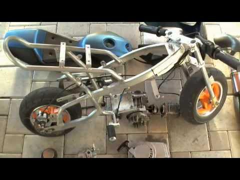 pocket bike tuning projekt 2009 big bore 3 snake pipe. Black Bedroom Furniture Sets. Home Design Ideas