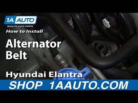 How To Install replace Alternator Belt 1999-06 Hyundai Elantra 2.0L